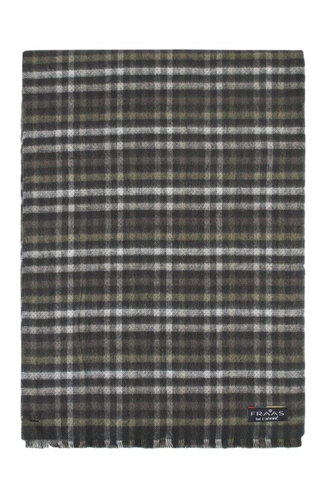 Mens Fraas Cashmink Small Check Design 30 x 200cm Scarf