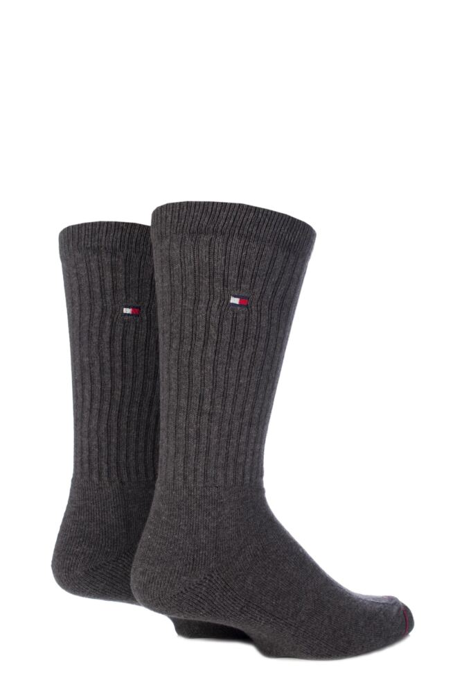 Mens 2 Pair Tommy Hilfiger Cotton Sports Socks