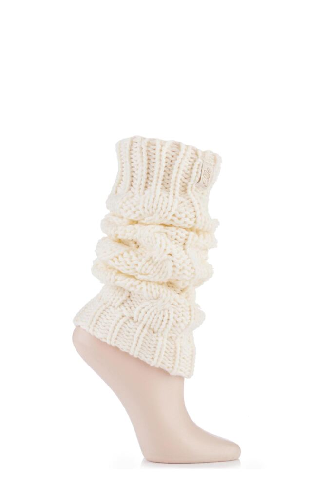 ELLE CHUNKY CABLE KNIT LEG WARMERS