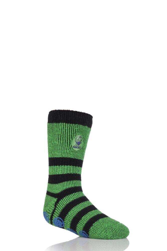 Boys 1 Pair Heat Holders The Incredible Hulk Slipper Socks with Grip