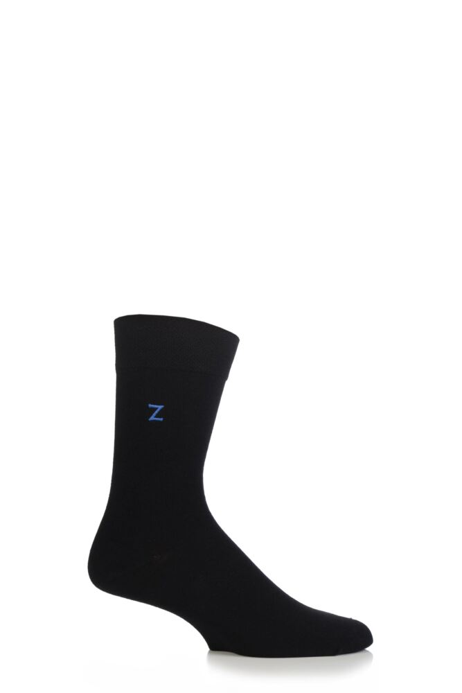 Mens 1 Pair SockShop Individual Embroidered Initial Socks - All 26 Letters Of The Alphabet