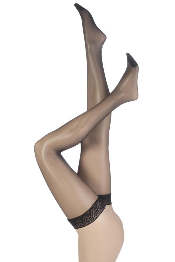 Ladies 1 Pair Pretty Polly Nylons - Lace Top Hold Ups