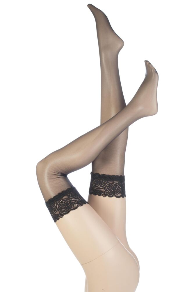 Ladies 1 Pair Aristoc Sensuous 10 Denier Lace Top Stockings 25% OFF