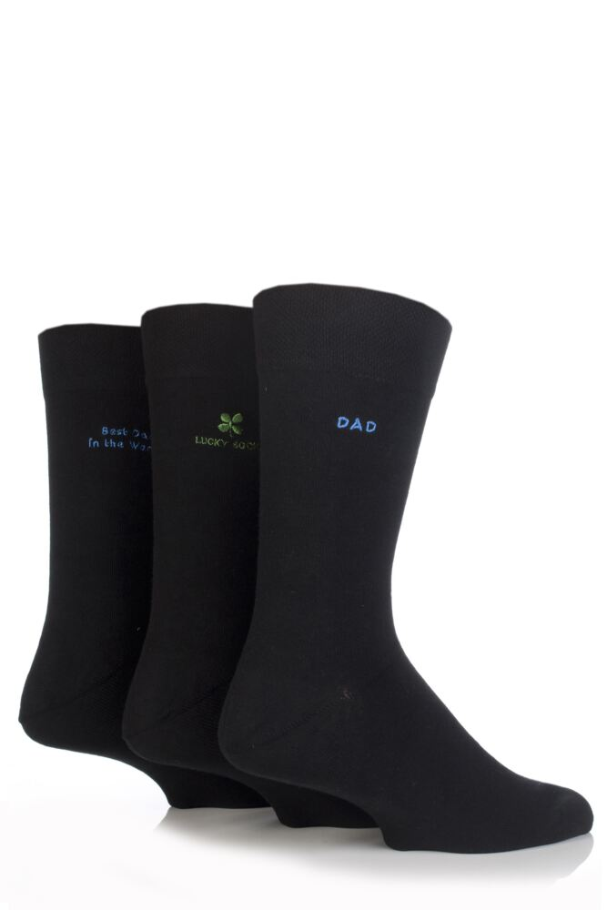 Mens 3 Pair SockShop Individual Best Dad In The World Gift Box