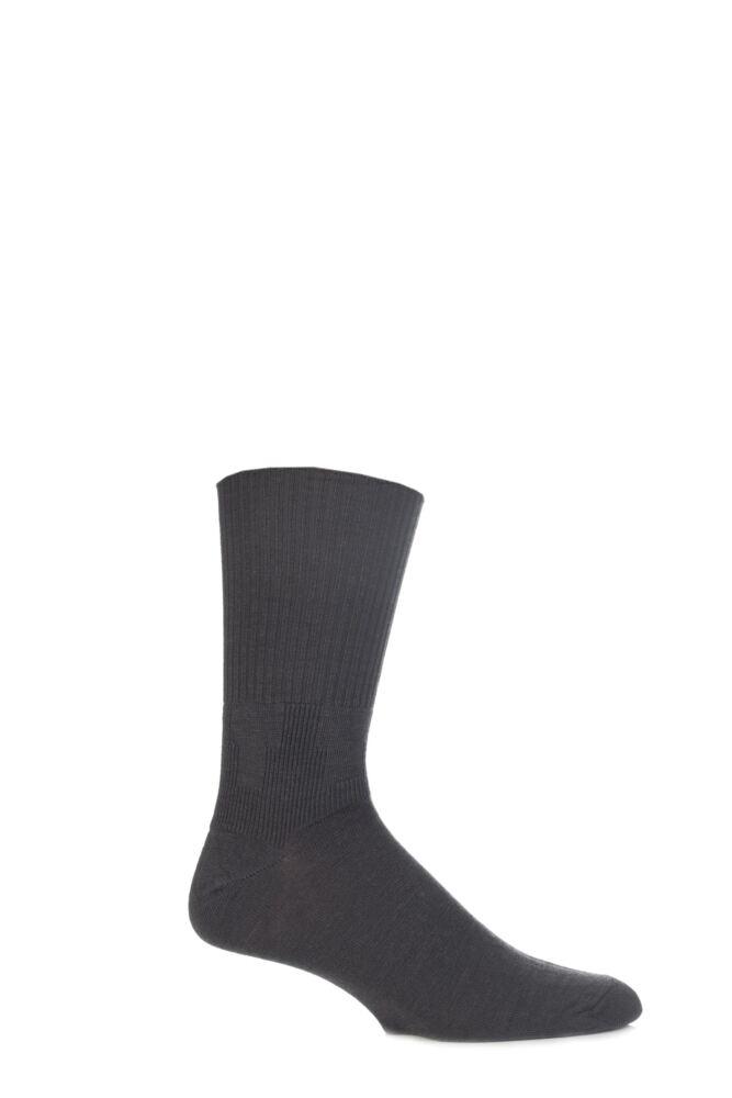 Mens 2 Pair J. Alex Swift Wool Socks With Comfort Cuff