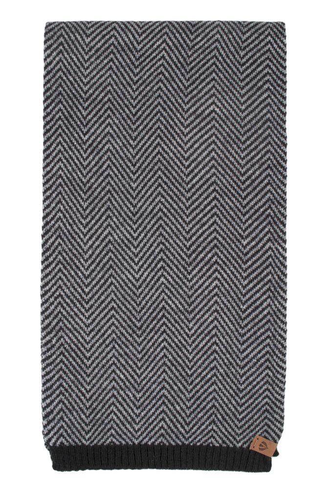 Mens Fraas Wool Blend Chevron Striped 25 x 180cm Scarf