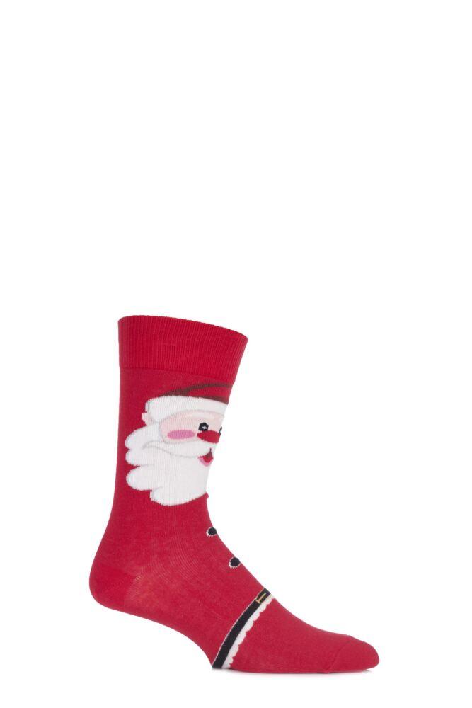 Mens 1 Pair SockShop Christmas Dare to Wear Father Christmas Socks