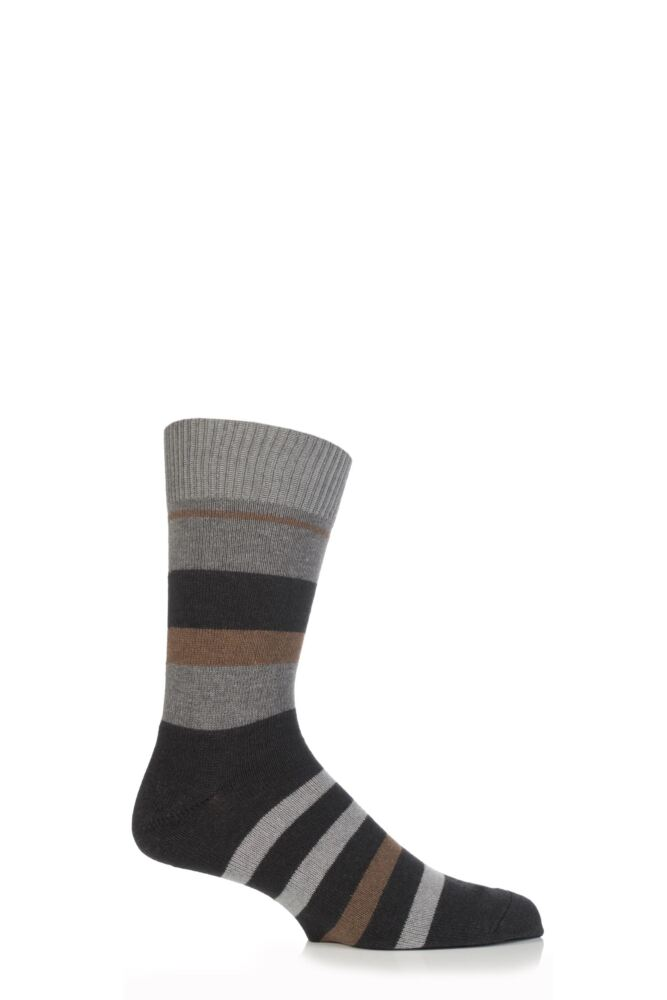 Mens 1 Pair Falke Lhasa Irregular Stripe Socks