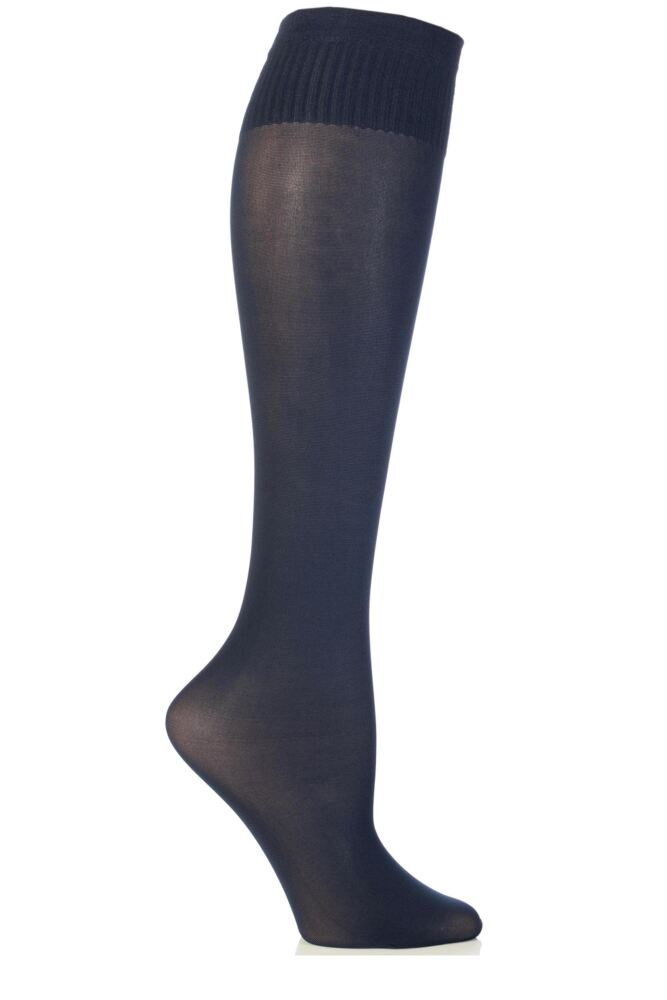 Ladies 1 Pair Trasparenze Laura Microfibre Knee Highs
