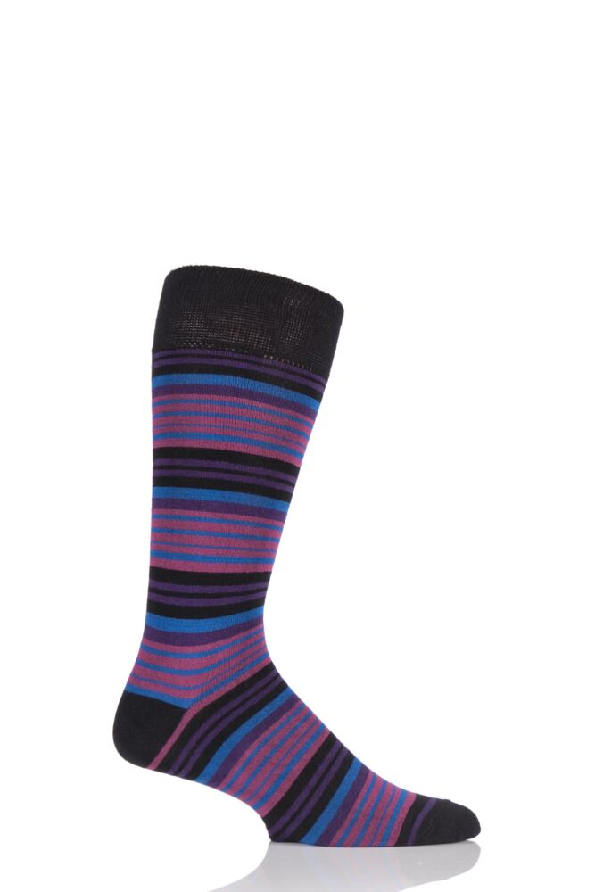 Mens 1 Pair HJ Hall Fistral Striped Bamboo Socks