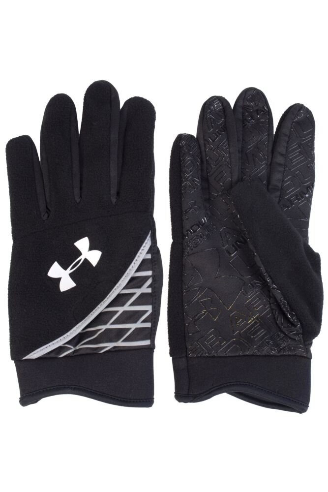 Mens 1 Pair Under Armour Coldgear Fleece Glove With Hidden Key Pocket