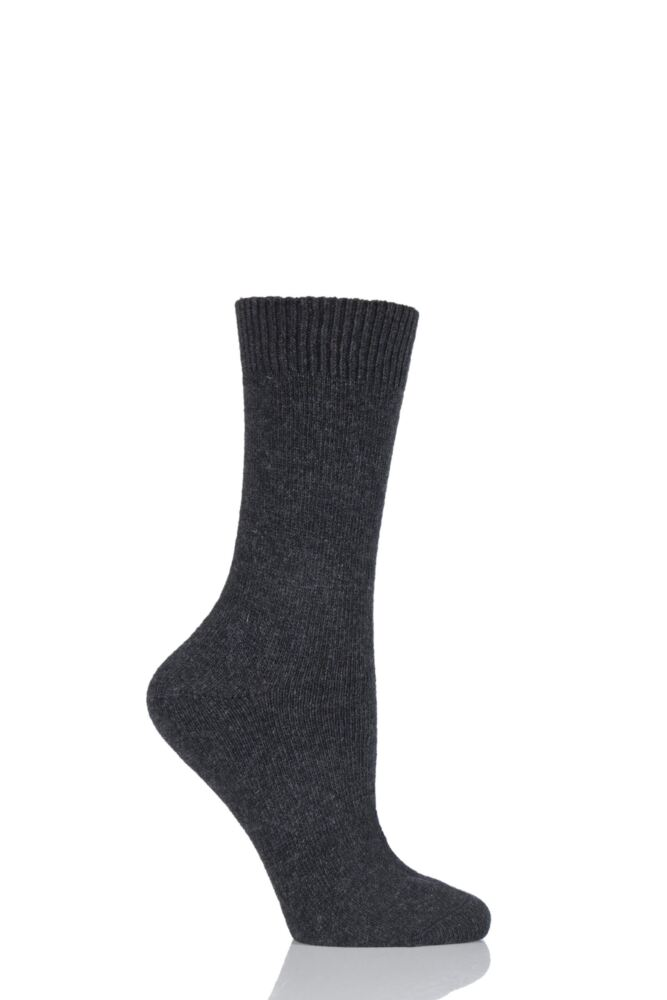 Ladies 1 Pair Oroblu Debra Fine Cashmere Blend Plain Socks