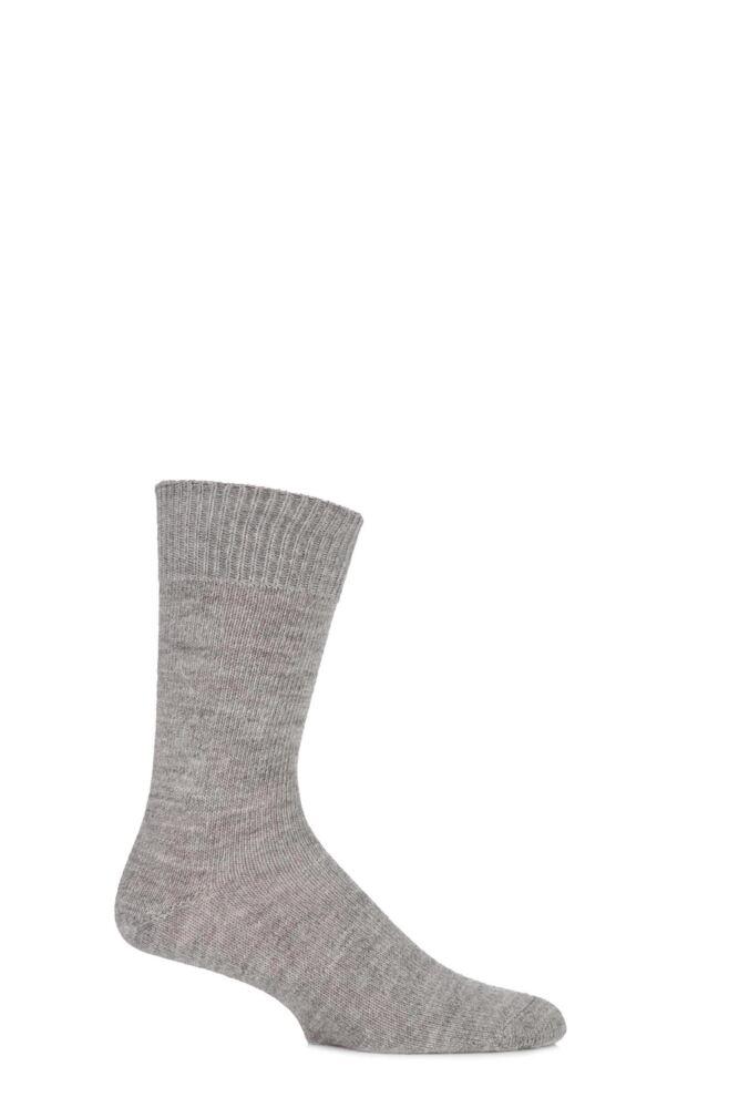 Mens and Ladies 1 Pair J. Alex Swift Plain Alpaca Socks