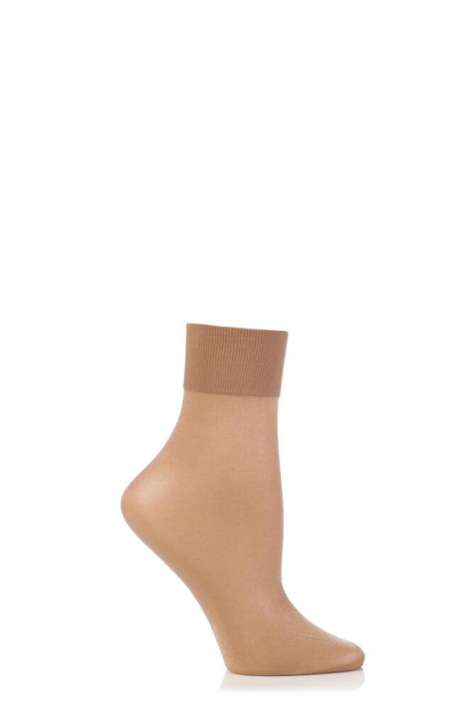 Ladies 1 Pair Falke Seidenglatt 15 Denier Transparent Shining Ankle Highs