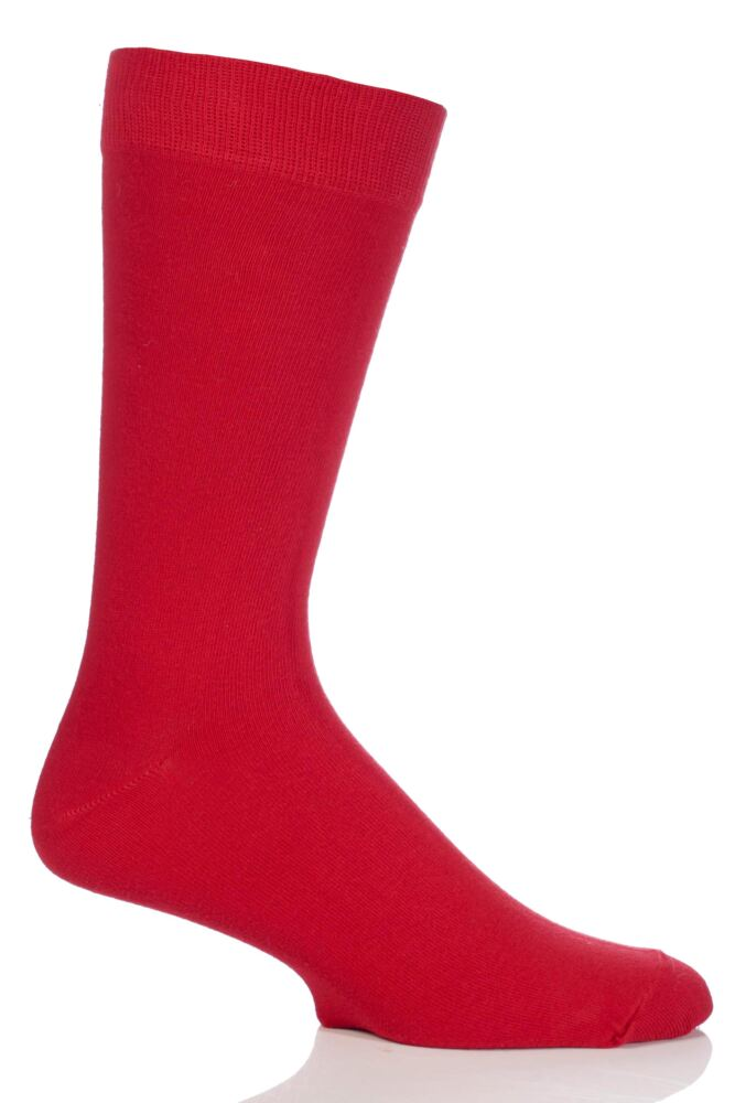 Mens 1 Pair SockShop Colours Single Cotton Rich Socks In 8 Colours