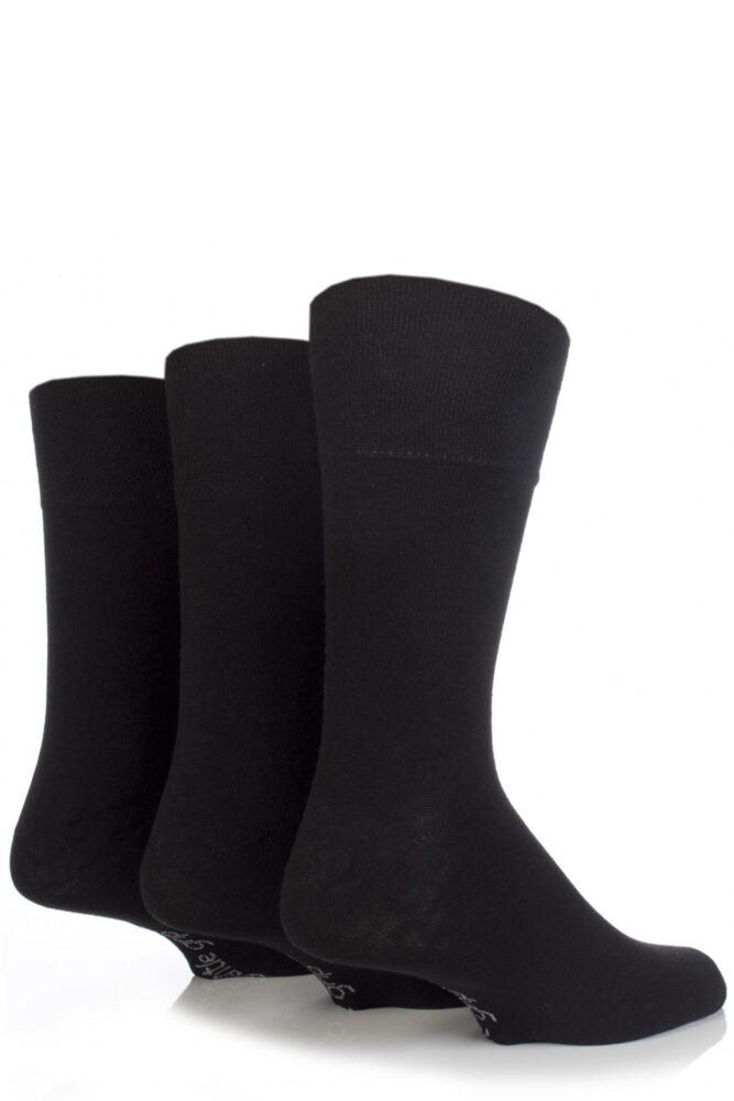 Mens 3 Pair Gentle Grip Plain Socks