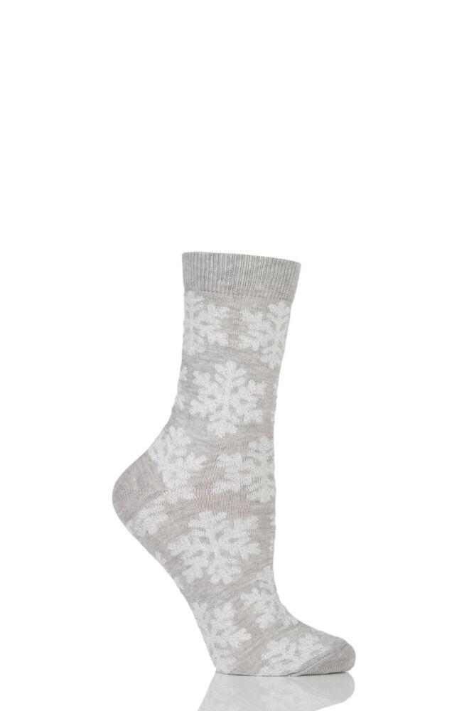 Ladies 1 Pair Totes Christmas Bauble Socks