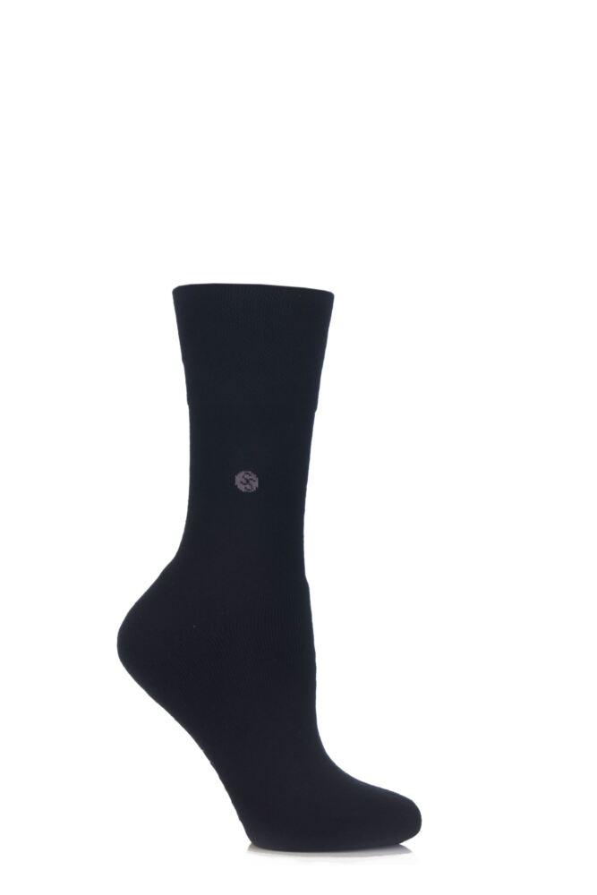 Ladies 1 Pair Gentle Grip Plain Cushioned Socks