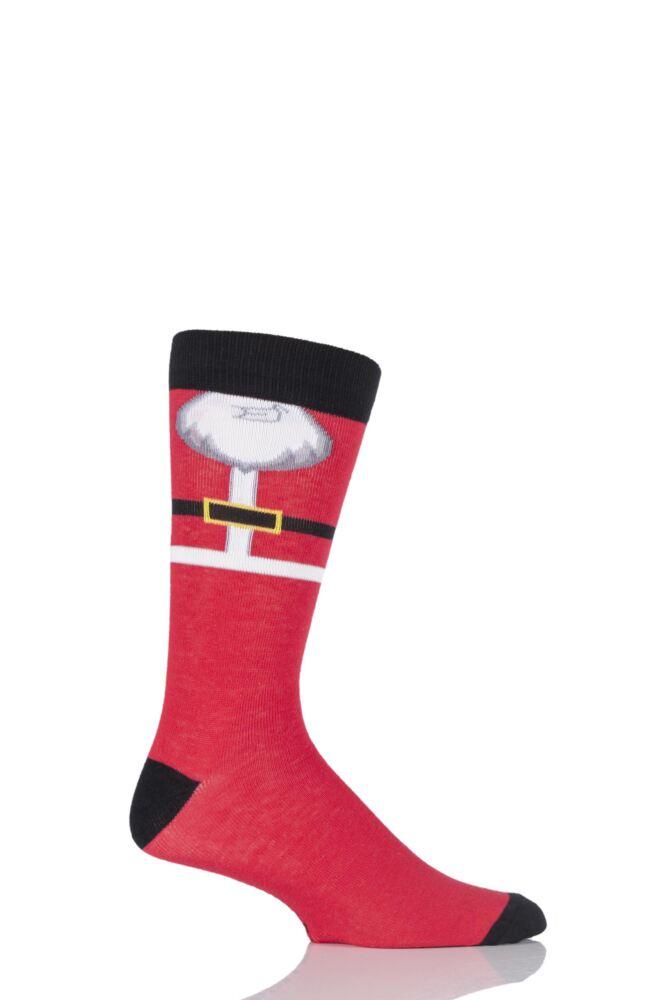 Mens 1 Pair SockShop Festive Feet Santa's Beard Christmas Novelty Socks