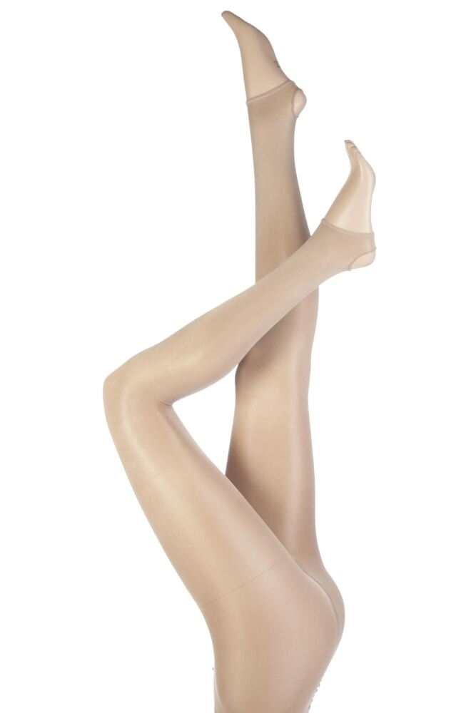 Girls 1 Pair Silky Dance Shimmer Stirrup Tights