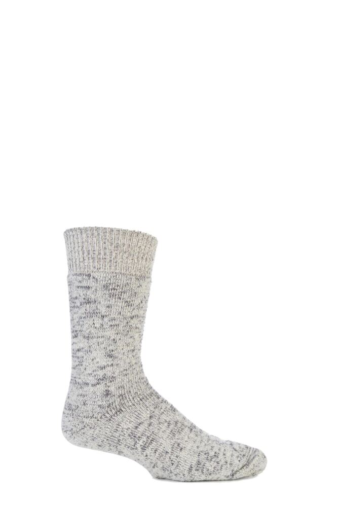Mens 1 Pair J. Alex Swift Wool Rich All Terry Fleck Everyday Socks