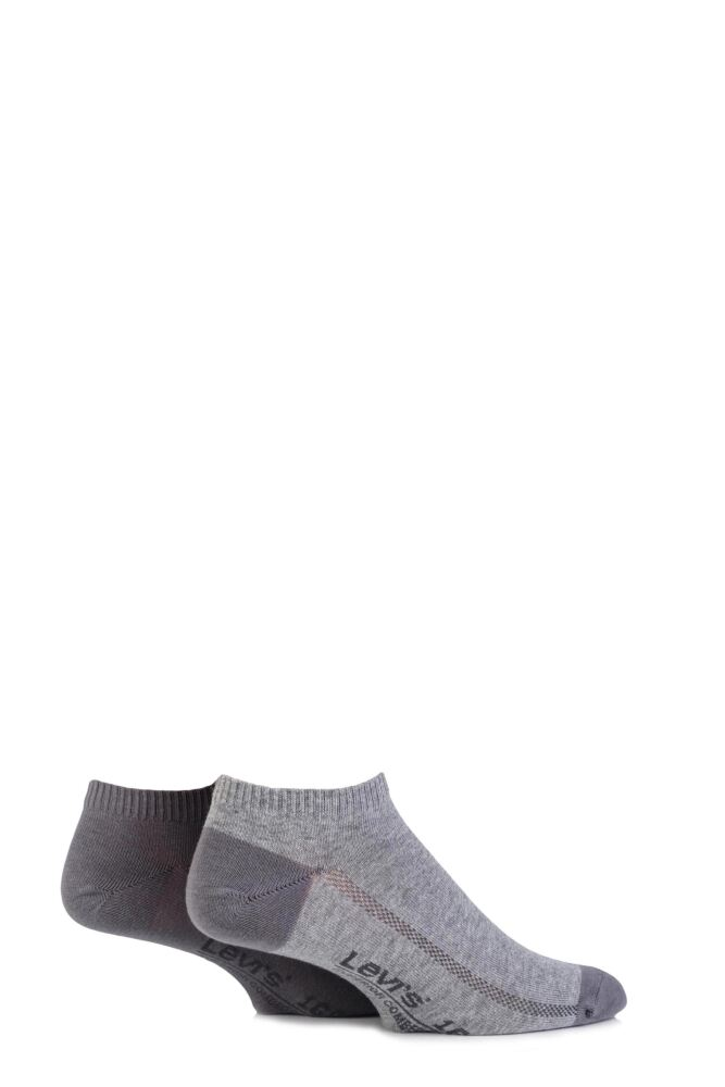 Mens 2 Pair Levis 168SF Plain Cotton Low Cut Socks