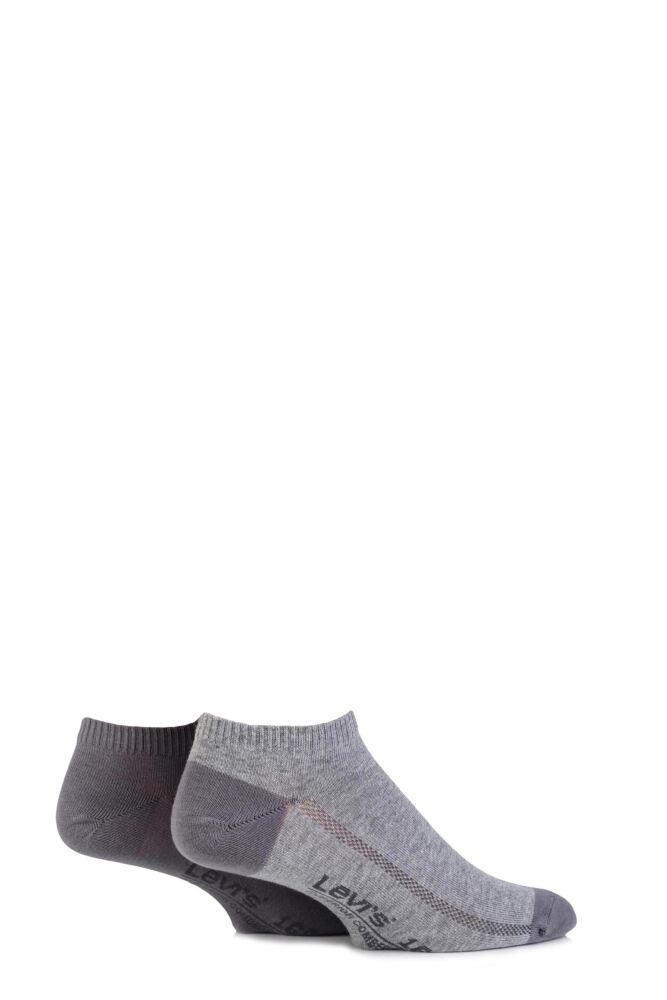 Mens 2 Pair Levis 168SF Plain Cotton Low Cut Socks