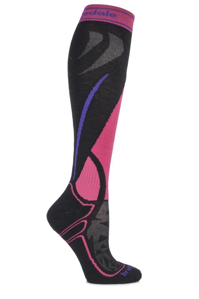 Ladies 1 Pair Bridgedale Vertige Midweight Over the Calf MerinoFusion Ski Socks 50% OFF