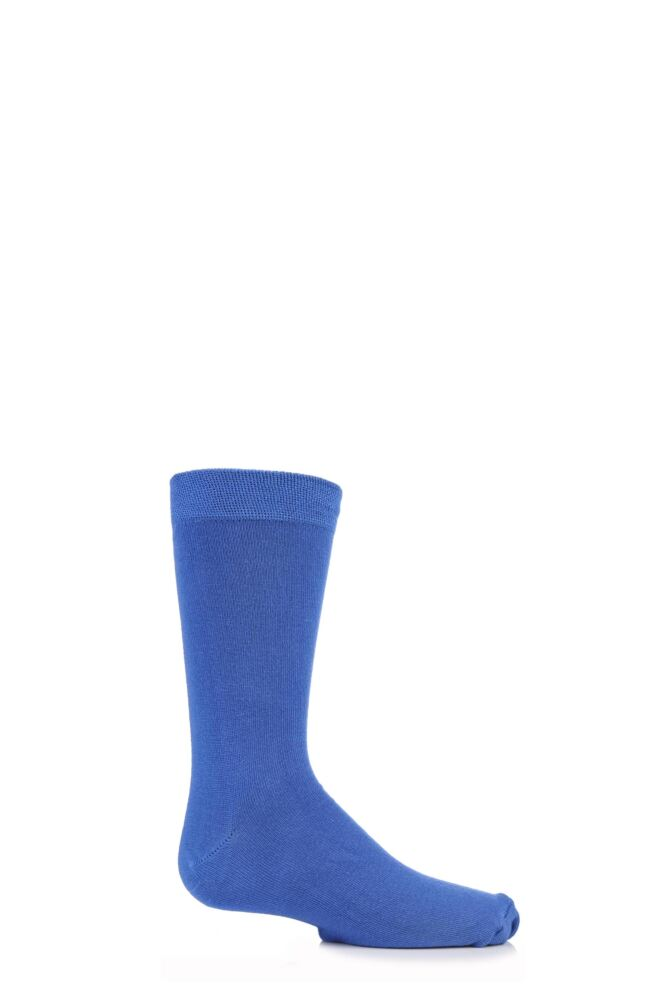 Boys and Girls 1 Pair SockShop Plain Bamboo Socks with Comfort Cuff and Handlinked Toes
