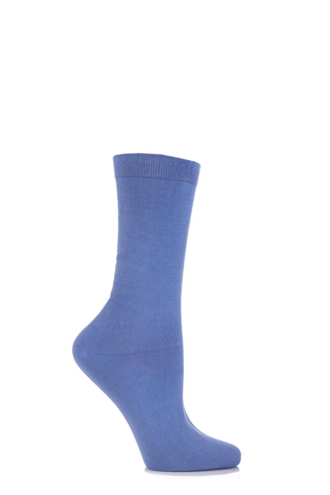 Ladies 1 Pair Pantherella Sea Island Cotton Dolly Plain Flat Knit Socks with Frill Top 25% OFF