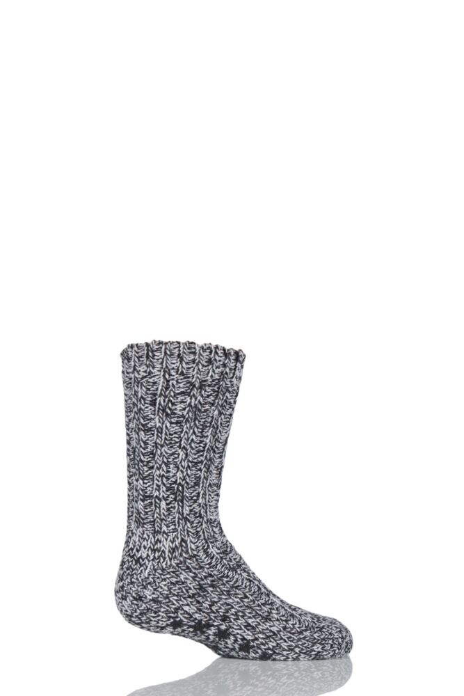 Kids 1 Pair SockShop Chunky Marl Slipper Socks