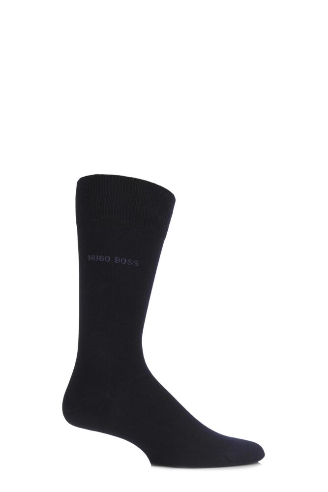 Mens 1 Pair Hugo Boss Plain Merino Wool Socks