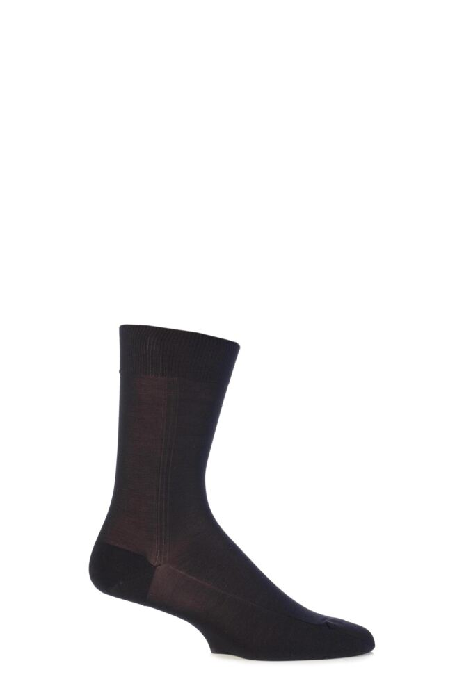 Mens 1 Pair Viyella Nylon Socks With Hand Linked Toe