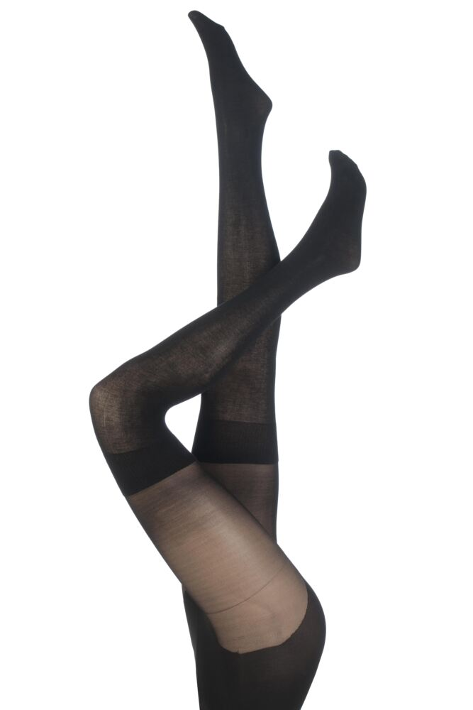 Ladies 1 Pair Pretty Polly Secret Socks Over the Knee Modal Sock Tights