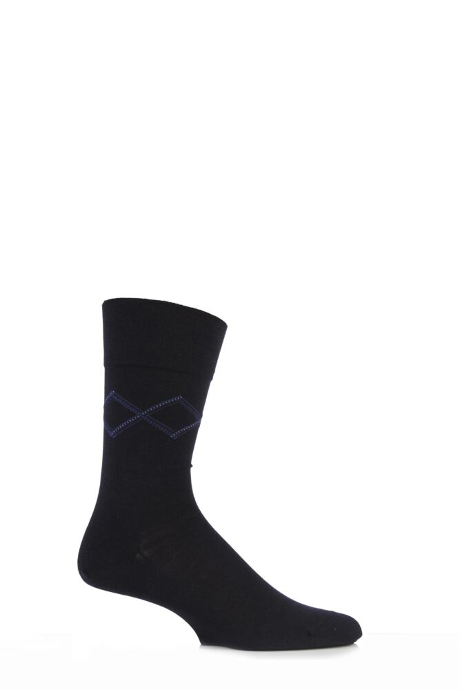 Mens 1 Pair Falke Sensitive Diamond Cotton Socks