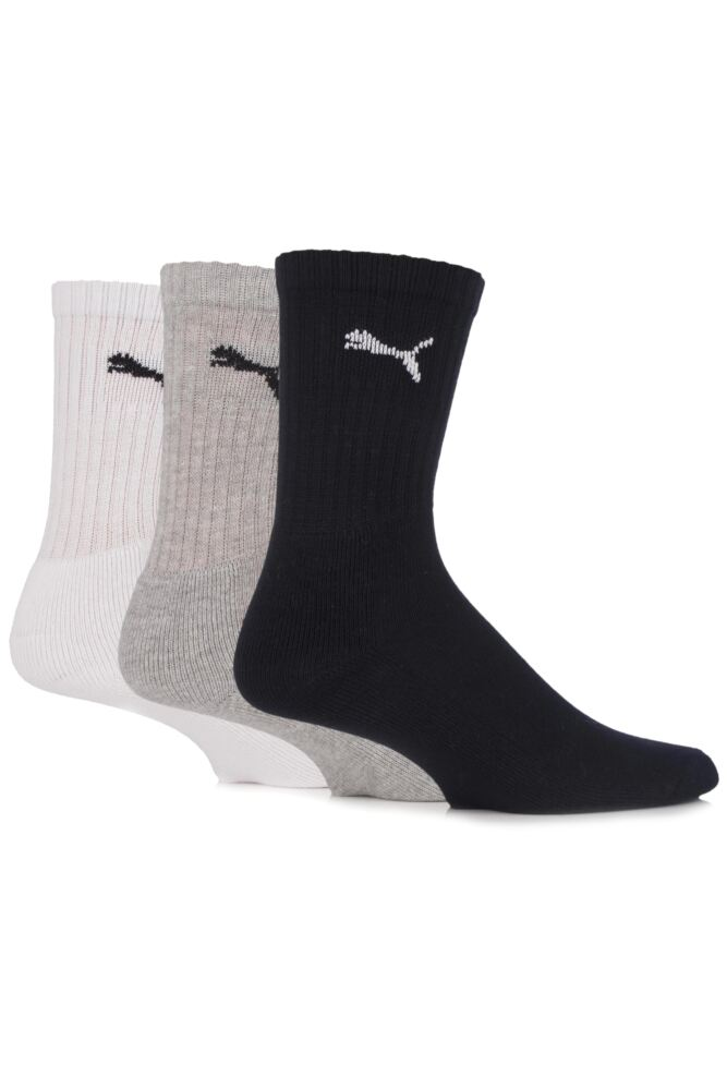Mens and Ladies 3 Pair Puma Sports Socks In 5 Colours