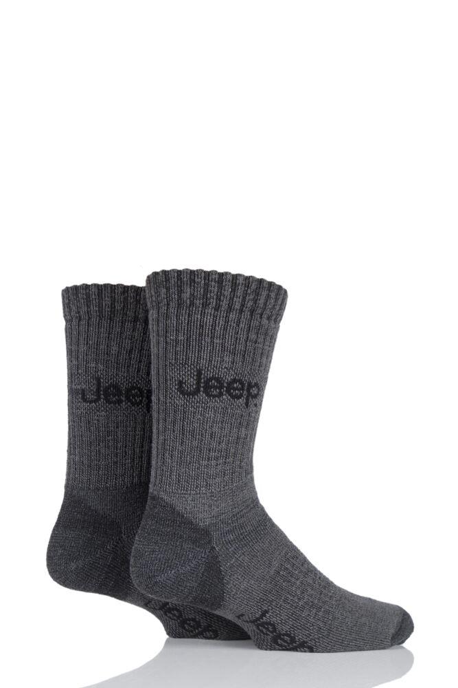 Mens 2 Pair Jeep Medium Weight Thermo Cool Terrain Socks