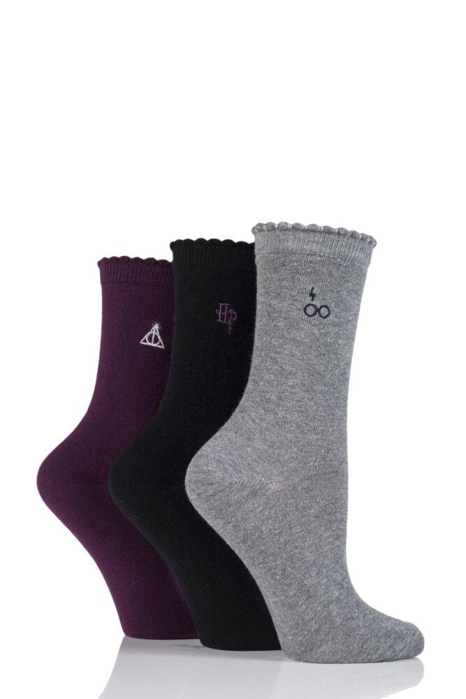 SockShop Harry Potter Embroidered Detail Cotton Socks