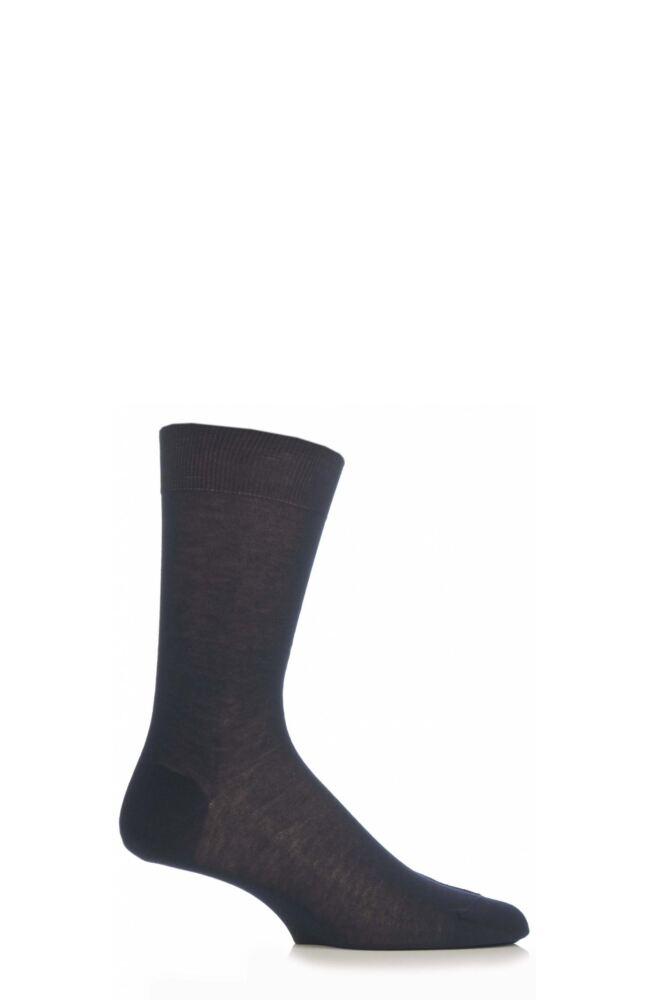 Mens 1 Pair Pantherella Plain 100% Cotton Lisle Socks