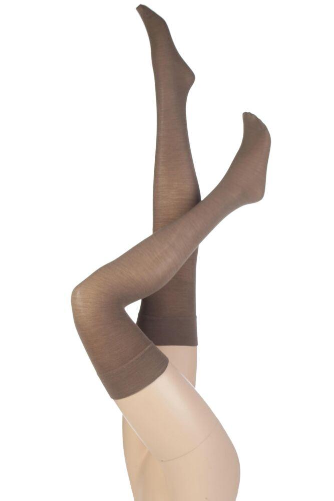 Ladies 1 Pair Levante Plain 100 Denier Wool Stockings In 3 Colours