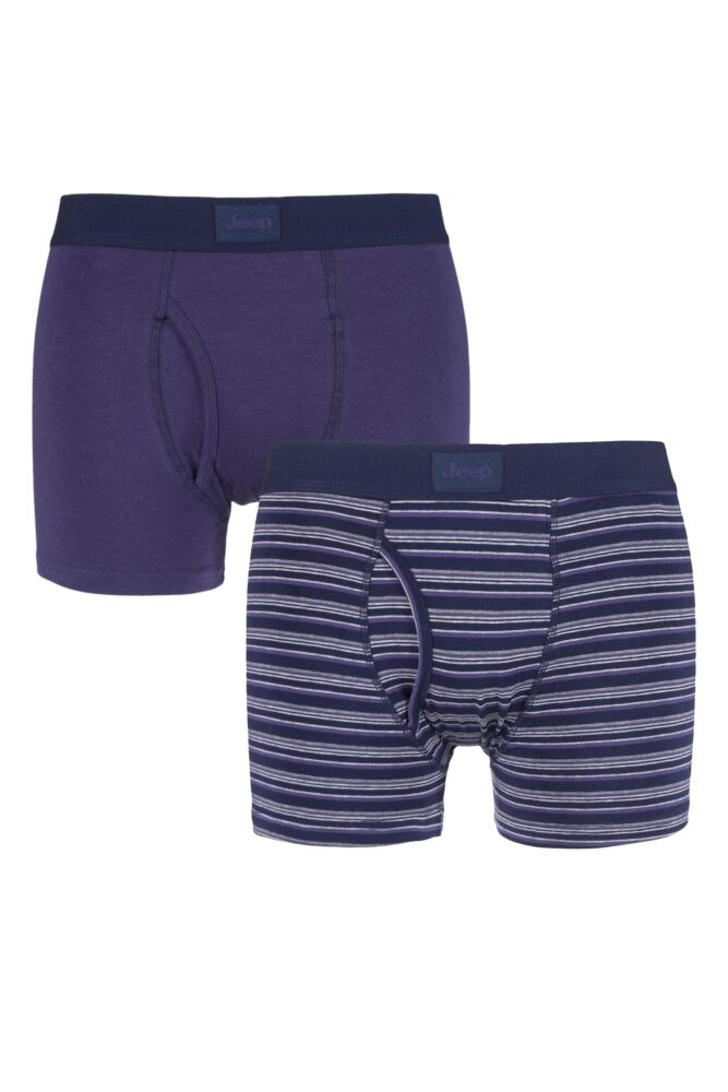 Mens 2 Pack Jeep Core Multi Stripe Trunks