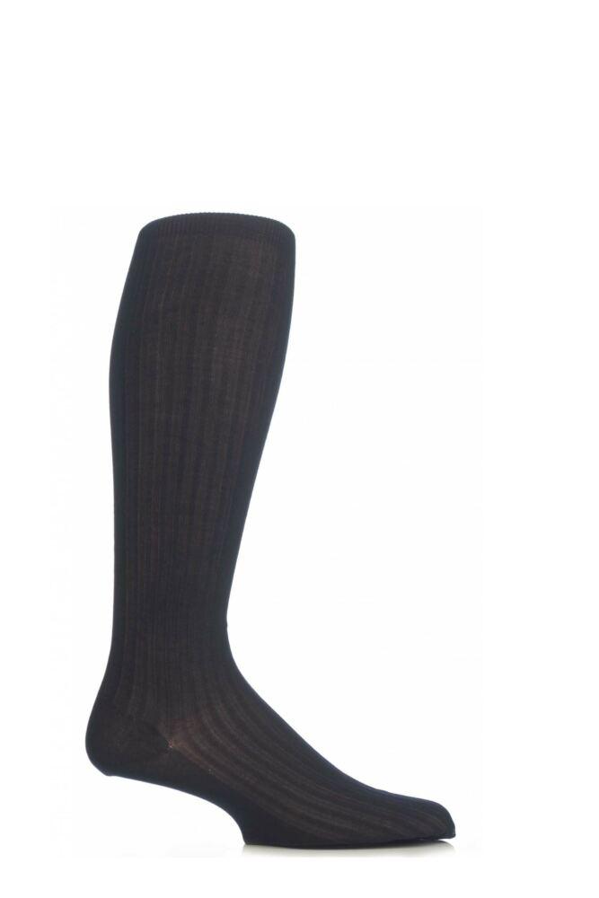 Mens 1 Pair Pantherella Merino Wool Rib Knee High Socks