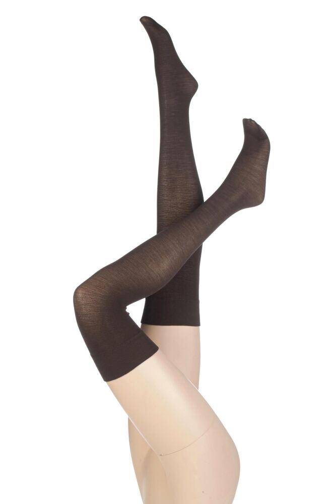 Ladies 1 Pair Levante Plain 100 Denier Wool Stockings