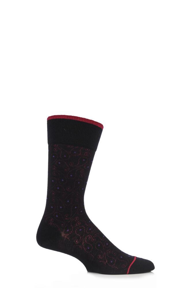 Mens 1 Pair Falke Paisley Virgin Wool Socks 33% Off