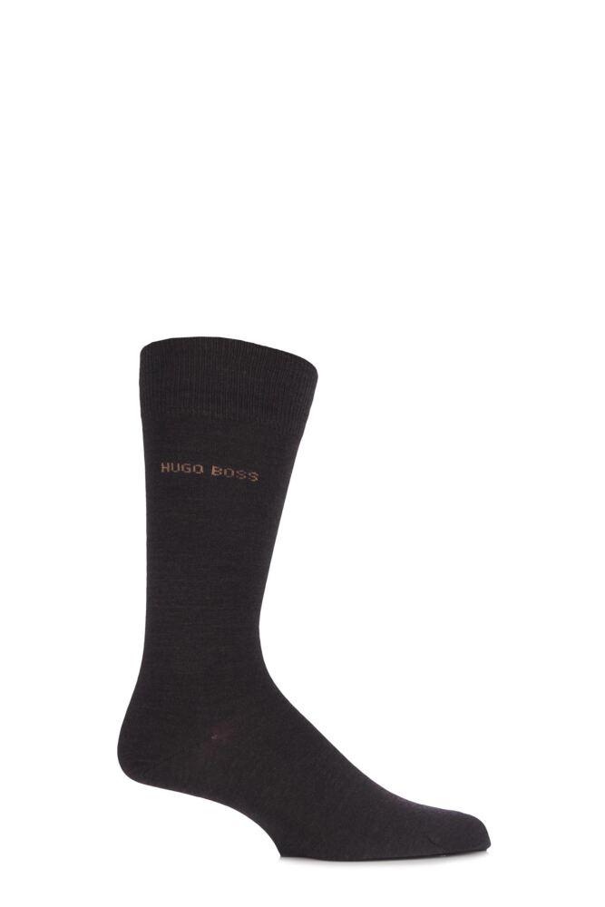 Mens 1 Pair Hugo Boss Plain Merino Wool Socks