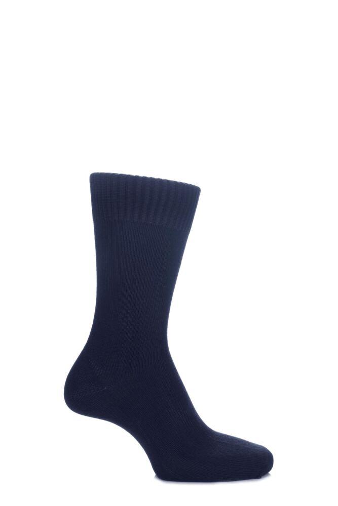 Mens and Ladies 1 Pair SockShop of London Bamboo Plain Knit True Socks