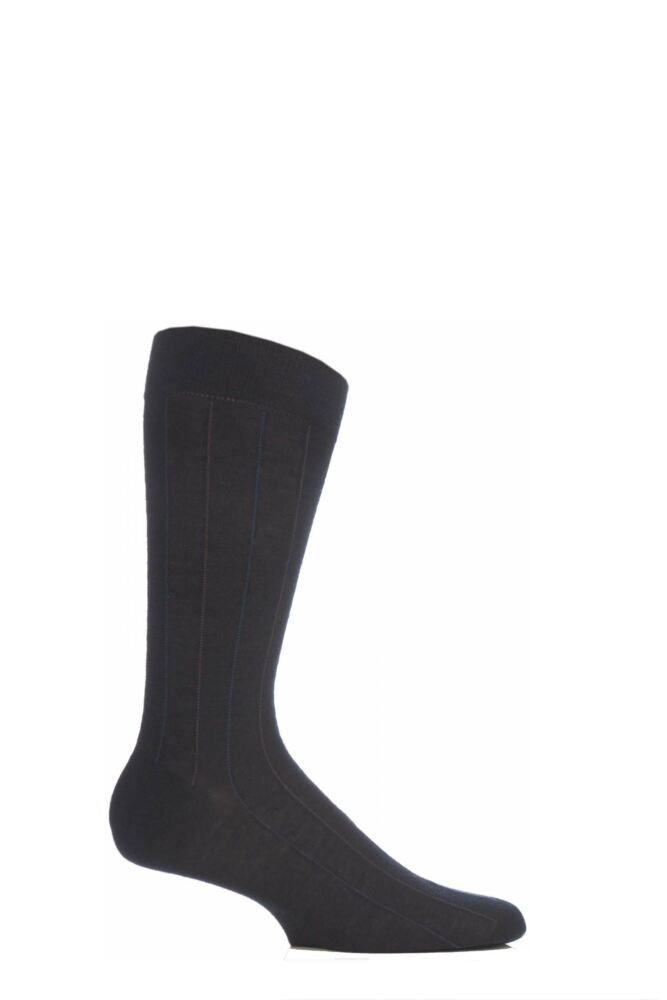 Mens 1 Pair Pantherella Traditional Pinstripe Merino Wool Socks