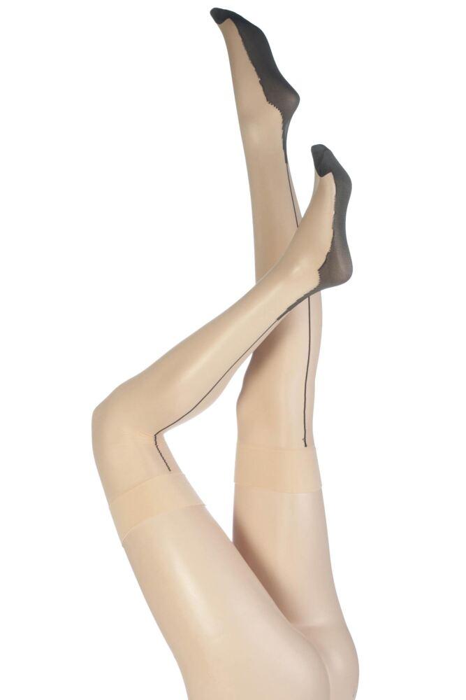 Ladies 1 Pair Jonathan Aston Contrast Seam And Heel Stockings
