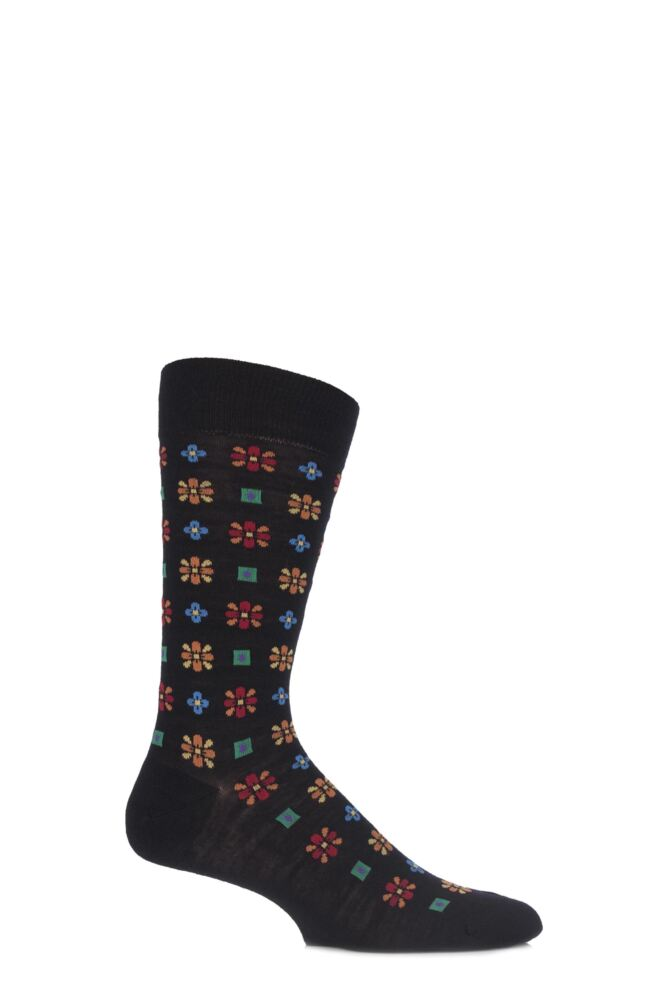 Mens 1 Pair Richard James Merino Wool Frederick Edwardian Floral Socks 33% OFF