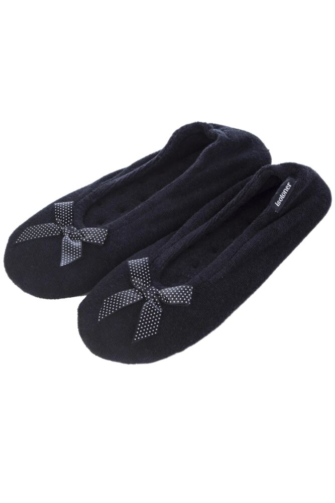 Ladies 1 Pair Isotoner Terry Ballet Slippers 33% OFF